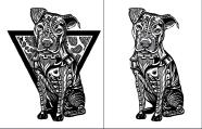 Tribal Pit Bull Dog