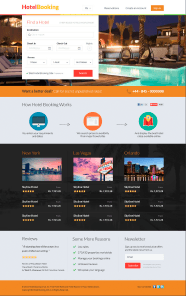 Hotel booking website mockup