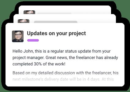 Oppdateringer på prosjektet rett i innboksen din