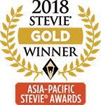 Gold Stevie Asia Pacific 2018 -logo