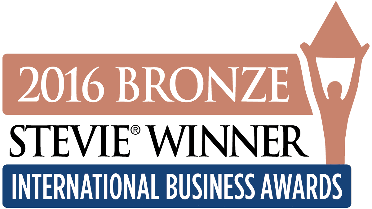 Bronze Stevie Winner 2016 -logo