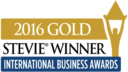 Gold Stevie Winner 2016 -logo