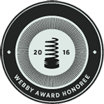 Logo de Webby Official Honoree Best Practices 2016