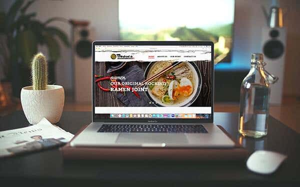 Showcase image of website design