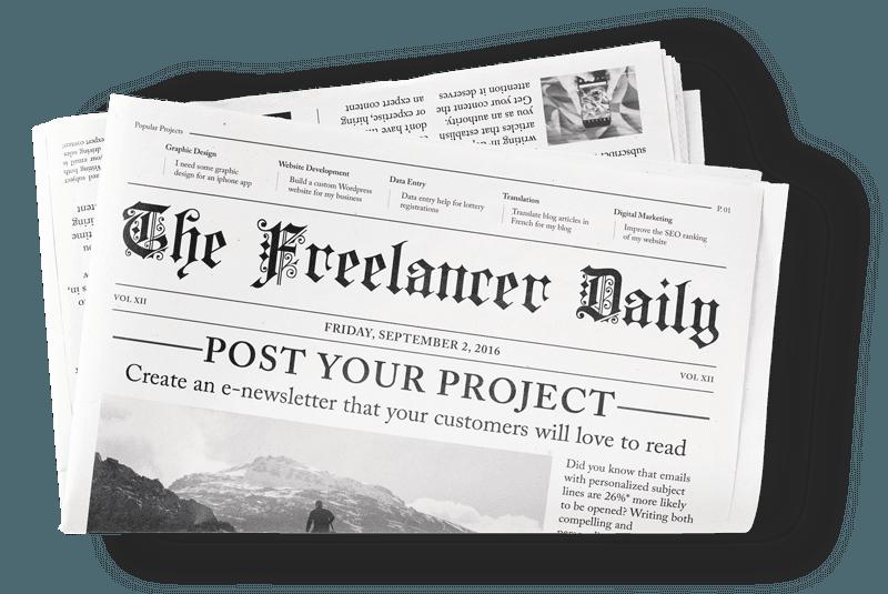 Ilustración de un diario de Freelancer.