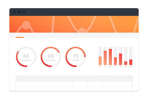 Illustration of a dashboard with graphs