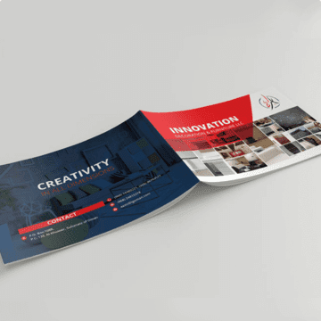 Design a Brochure for an Interior Design Agency Obraz